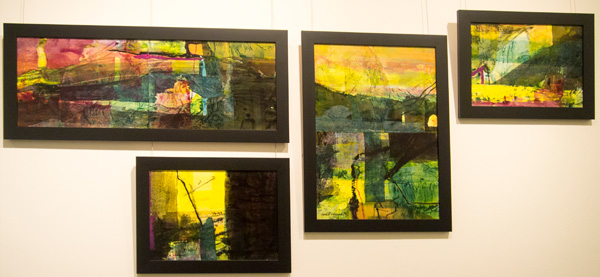 17-20.  Karen Frankel,  Set of 4 works, Mixed Media on Canvas,  $2,100