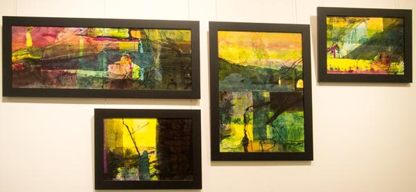 17-20. Karen Frankel, Set of 4 works, Mixed Media on Canvas, $2,100