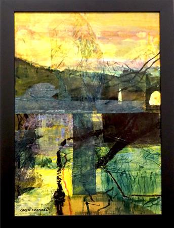 18. Karen Frankel, 'Horizon', 2017, Mixed media on canvas, 58 x 41cm, $650