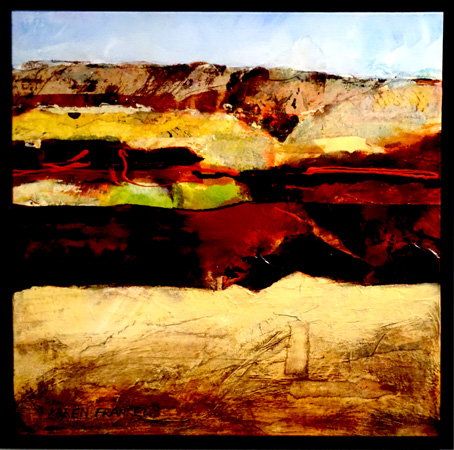 22. Karen Frankel, 'Pilbara', 2017, Mixed media on canvas, 50 x 50cm, $650