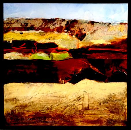 22. Karen Frankel, 'Pilbara', 2017, Mixed media on canvas, 50 x 50cm, $650