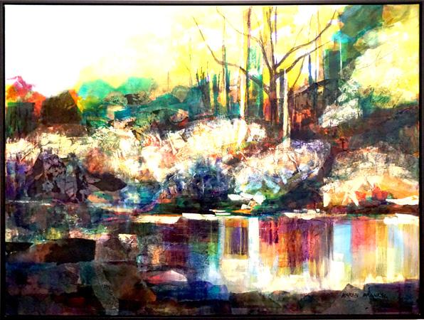 21. Karen Frankel, 'Reflect', 2017, Mixed media on canvas, 121 x 91cm, $2,400