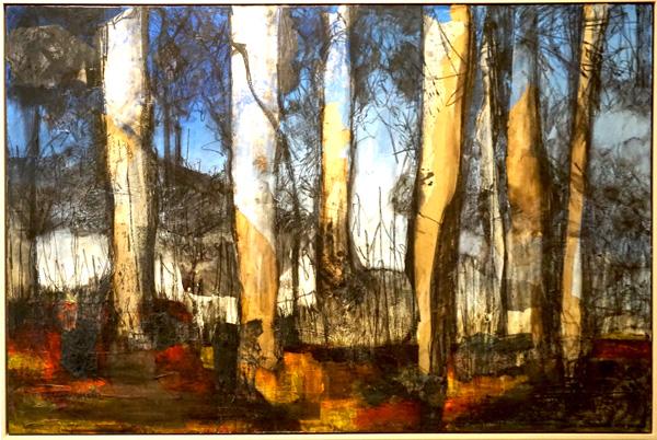 23. Karen Frankel, 'Forest', 2017, Mixed media on canvas, 151 x 100cm, $3,800
