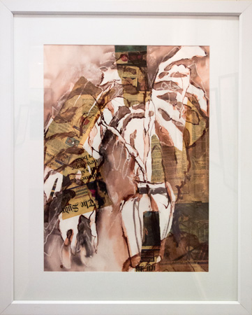 28. Karen Frankel, 'Monsteria', 2012, Mixed media on paper, 100 x 80cm, $750
