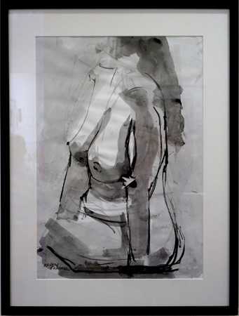 29. Karen Frankel, 'Nude 1', 2012, Charcoal and ink on paper, 64 x 57cm, $300