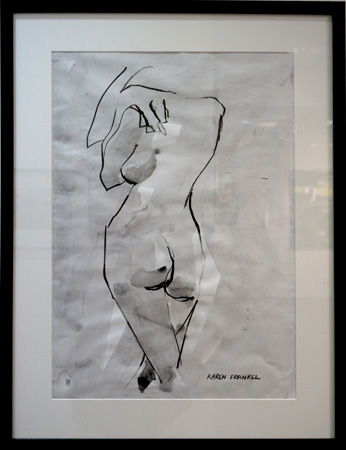 31. Karen Frankel, 'Nude 3', 2012, Charcoal and ink on paper, 64 x 57cm, $300