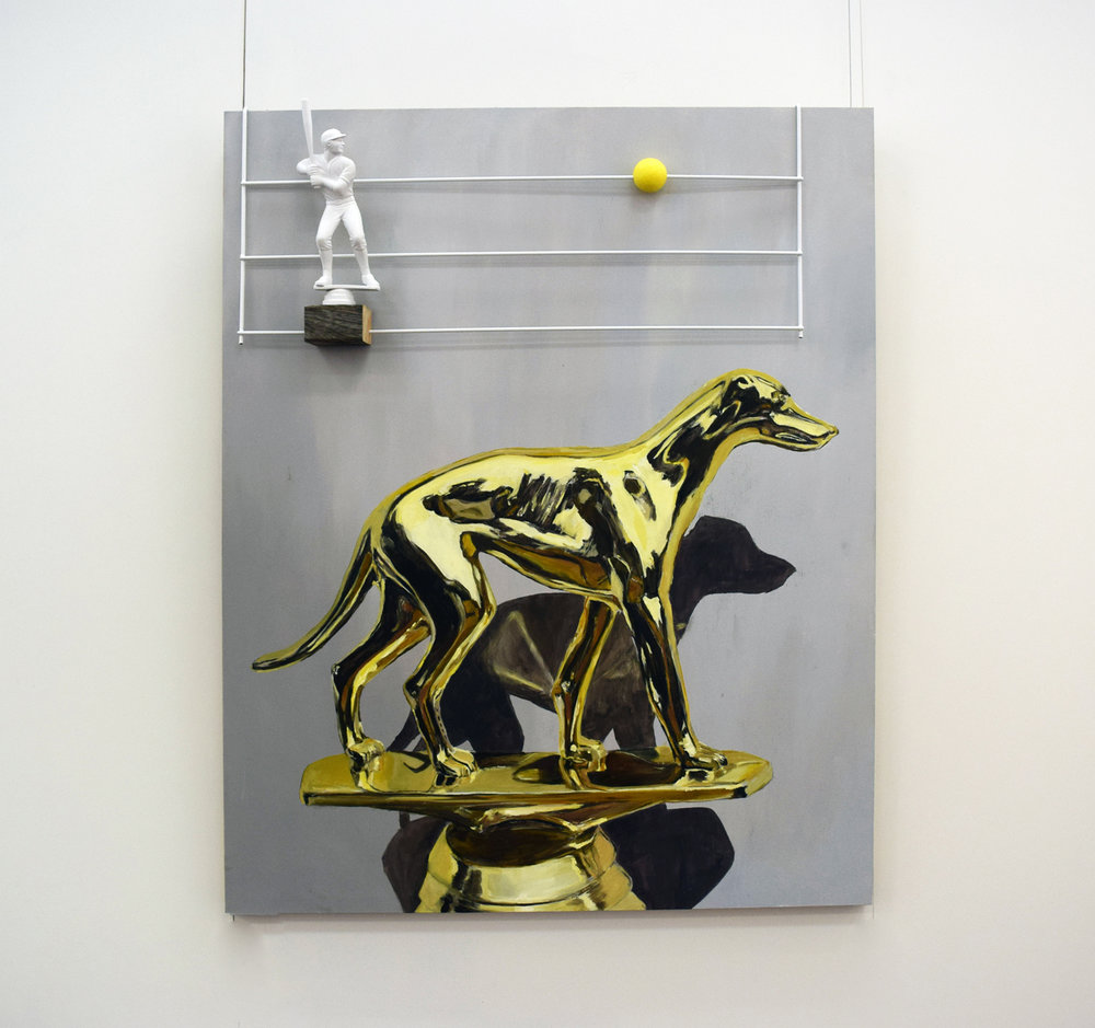 14. Bruce Slatter and Nicole Slatter,  Gold Hound , 2017, mixed media, $2,700