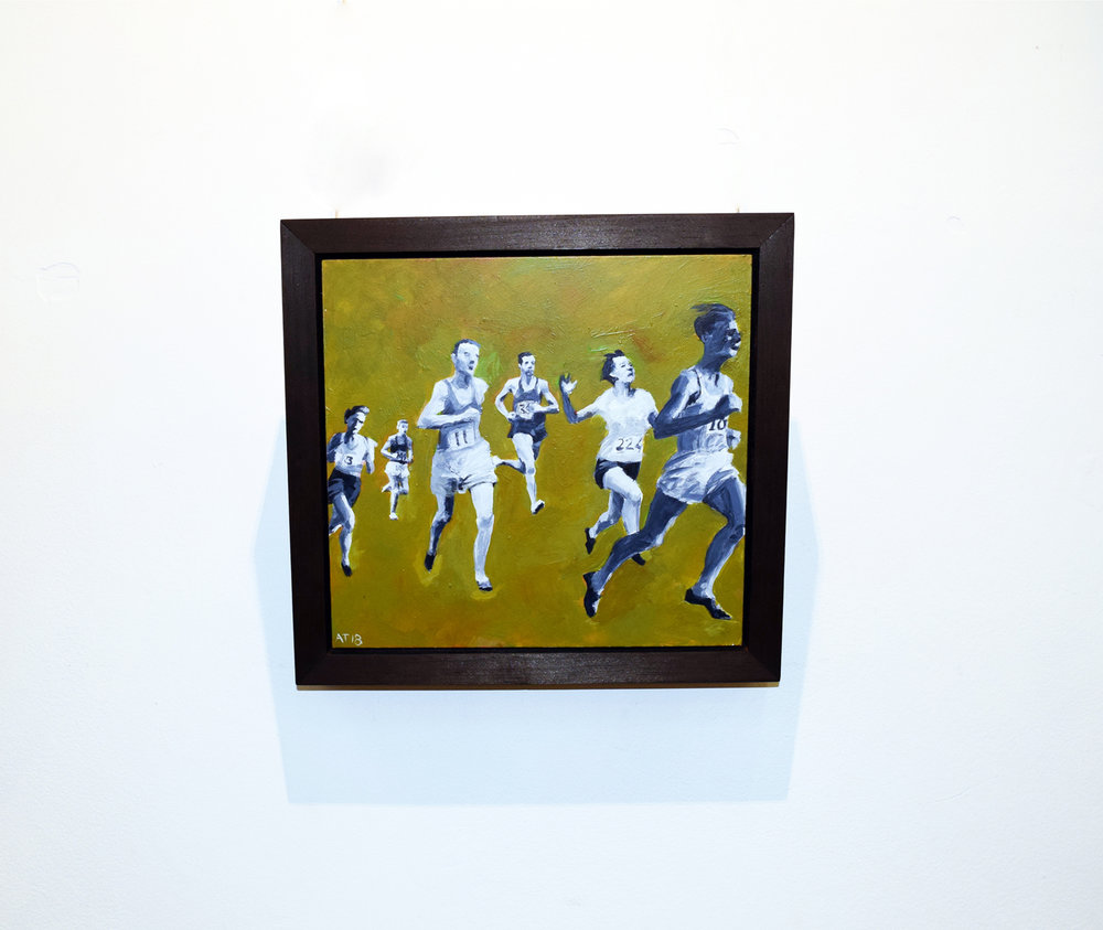 18. Alastair Taylor,  Run,  2018, acrylic on board, $325