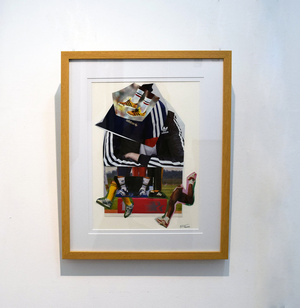 32. Alex Maciver,  Adidas Creps , 2017, collage on paper, NFS
