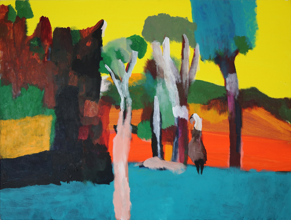1. Desmond Woodley, 'Old Man Emu', 2017, acrylic on canvas, 76 x 102 cm, $750