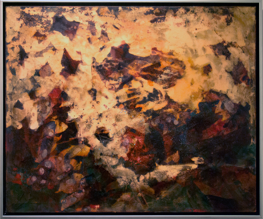 13. Bec Juniper, 'The Noble Mineral', 2018, mixed media on canvas, 82 x 96 cm, $4,800