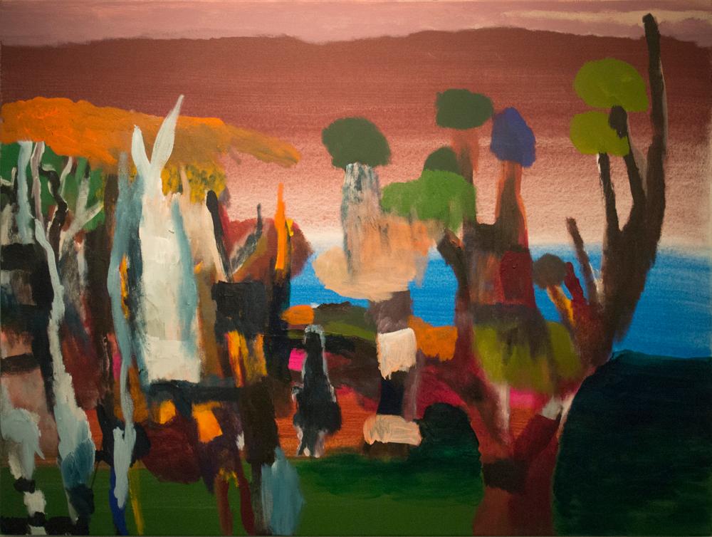 28. Desmond Woodley, 'Nullaki', 2018, acrylic on canvas, 76 x 102 cm, $750