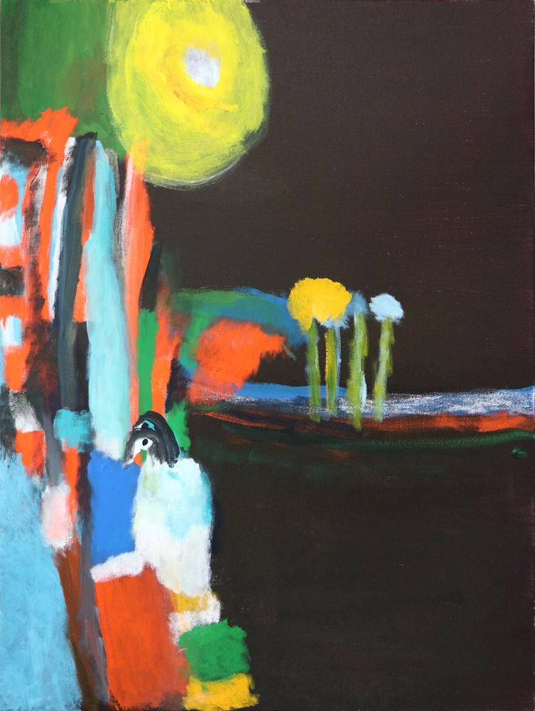 30. DesmondWoodley, 'Old Man Kookaburra', acrylic and pastel on canvas, 2017, 102 x 76 cm, $750