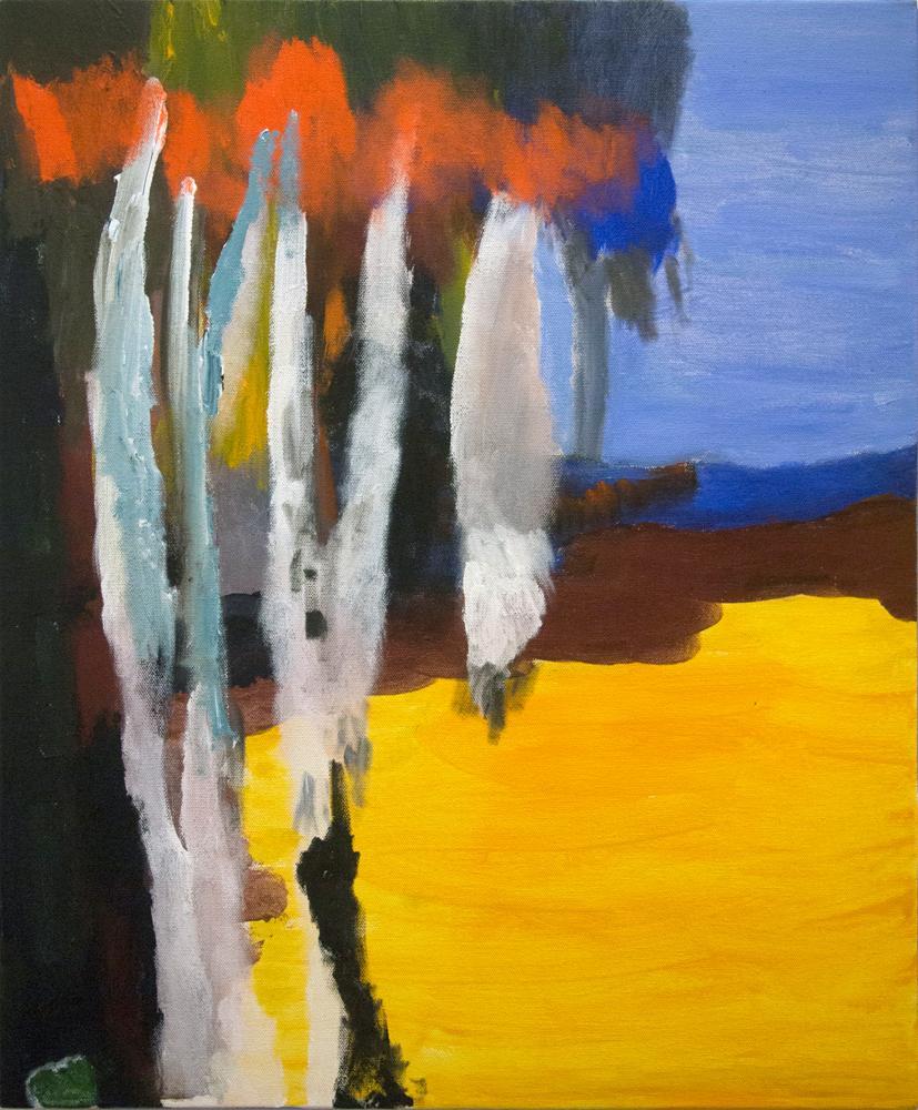 32. Desmond Woodley, 'Albany Beach', 2018, acrylic on canvas, 61 x 51 cm, $400