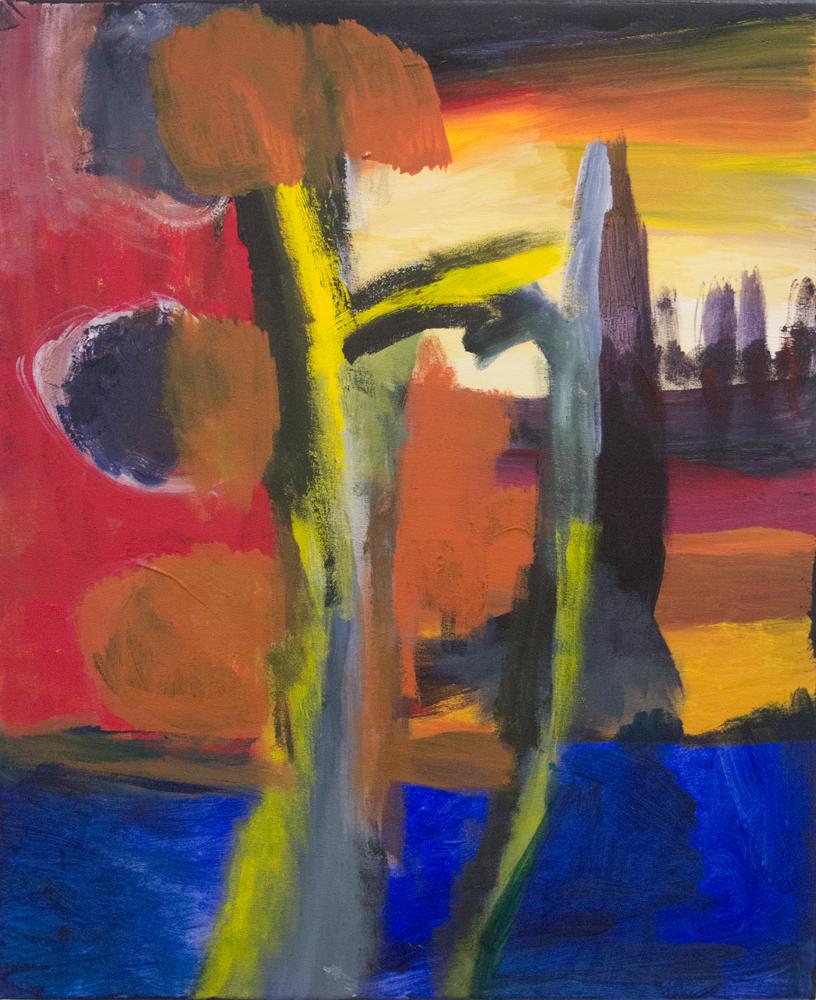 33. Desmond Woodley, 'Untitled (Tjyllyungoo)', 2017, acrylic and pastel on canvas, 61 x 51 cm, $350