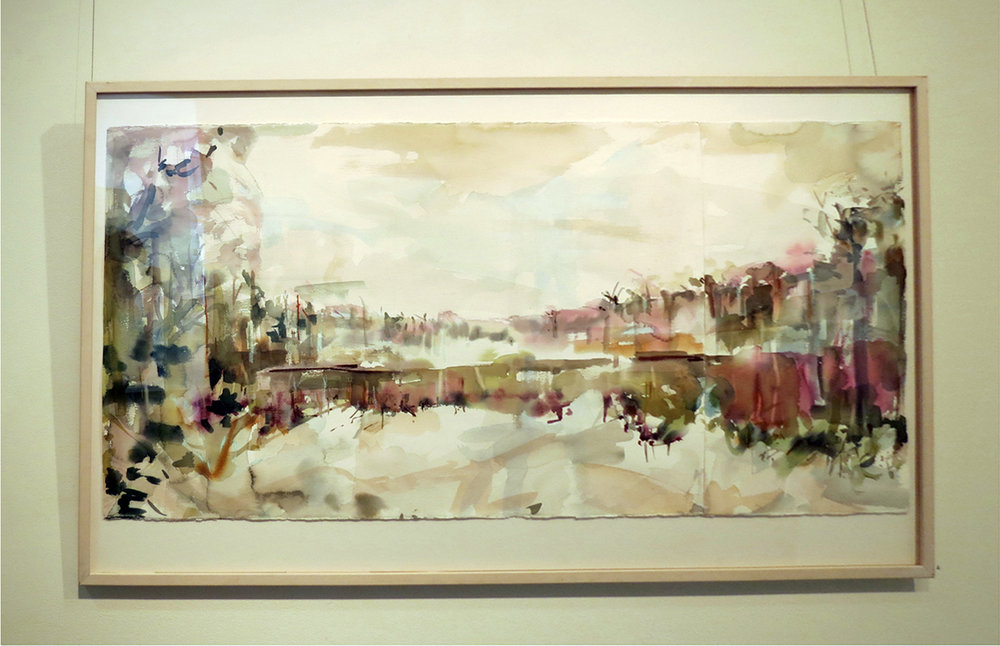 4. Jo Darvall, 'Water Ways', 2017, Watercolour on paper, 93.5 x 121.5cm. $4,800