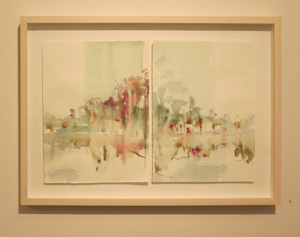 5. Jo Darvall, 'Speaking with Trees #2', 2017, Watercolour on paper, 38 x 57cm, $1,800