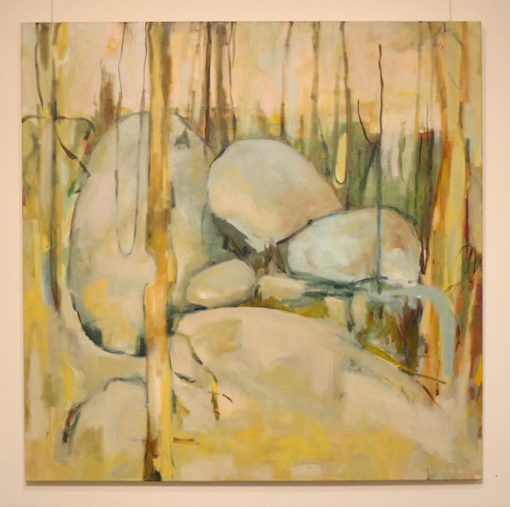 6. Jo Darvall, 'Mundaring Rocks 1', 2018, Oil on canvas, 123 x 122cm, $7,800