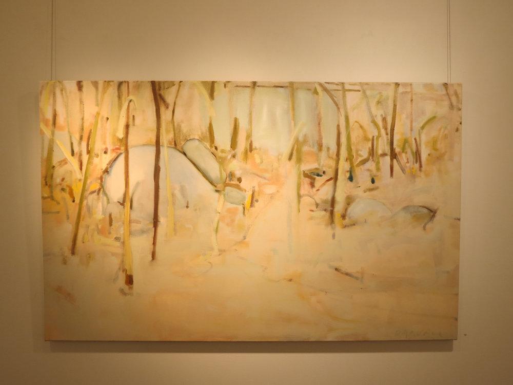 10. Jo Darvall, 'Mundaring Rocks 2', 2018, Oil on canvas, 102 x 1165cm, $7,800