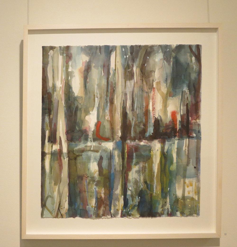 11. Jo Darvall, 'Waterways Cobalt', 2018, Watercolour on paper, 82 x 82cm, $2,500