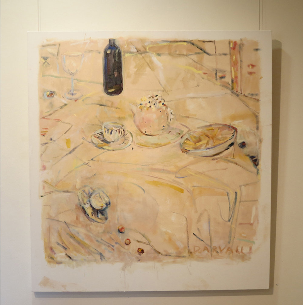 14. Jo Darvall, 'Still Life Floating #1', 2018, Oil on canvas, 137 x 126cm, $7,800