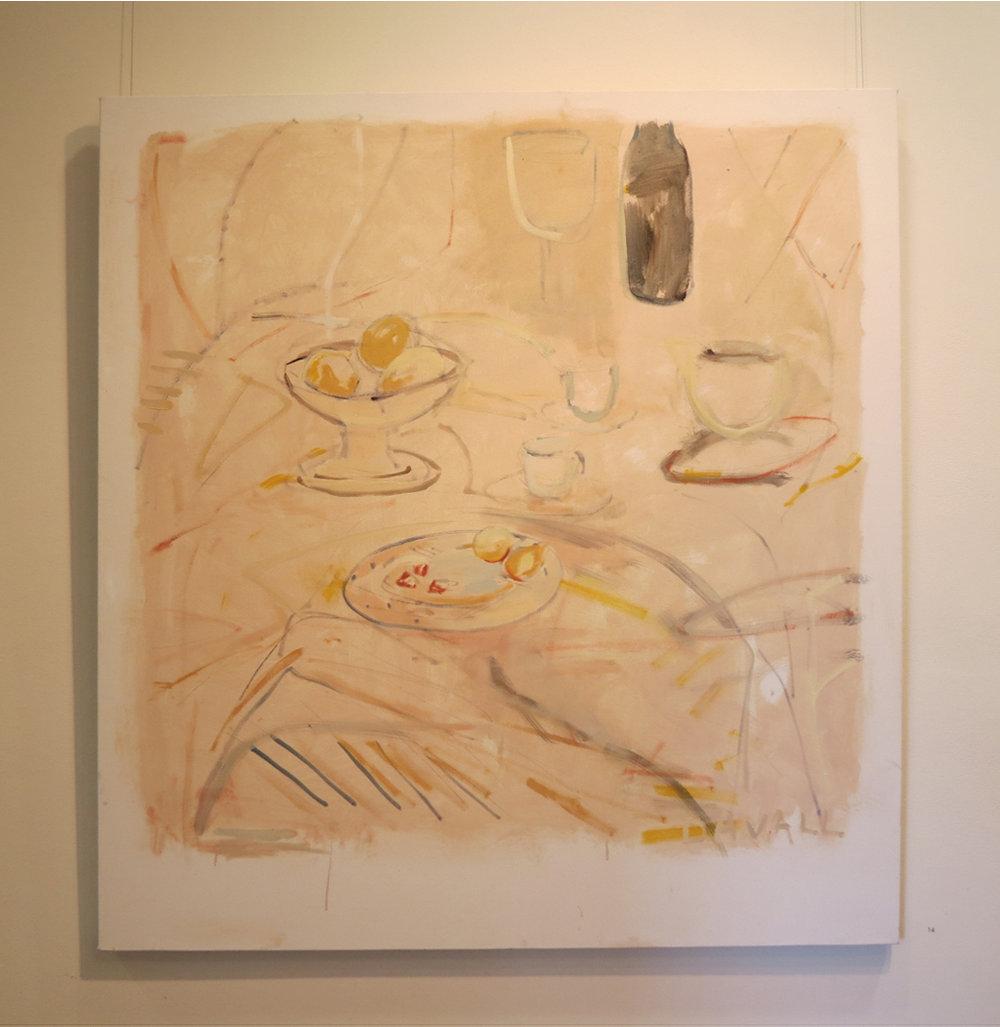 13. Jo Darvall, 'Still Life Floating #2', 2018, Oil on canvas, 137 x 126cm, $7,800