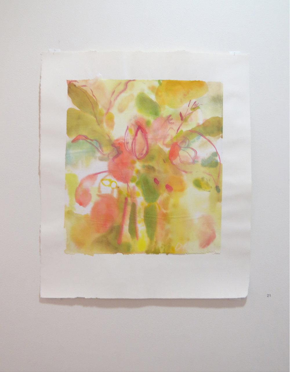 21. Jo Darvall, 'Floating Water Work 6', 2015, Watercolour on rice paper, 67 x 58cm, $1,800