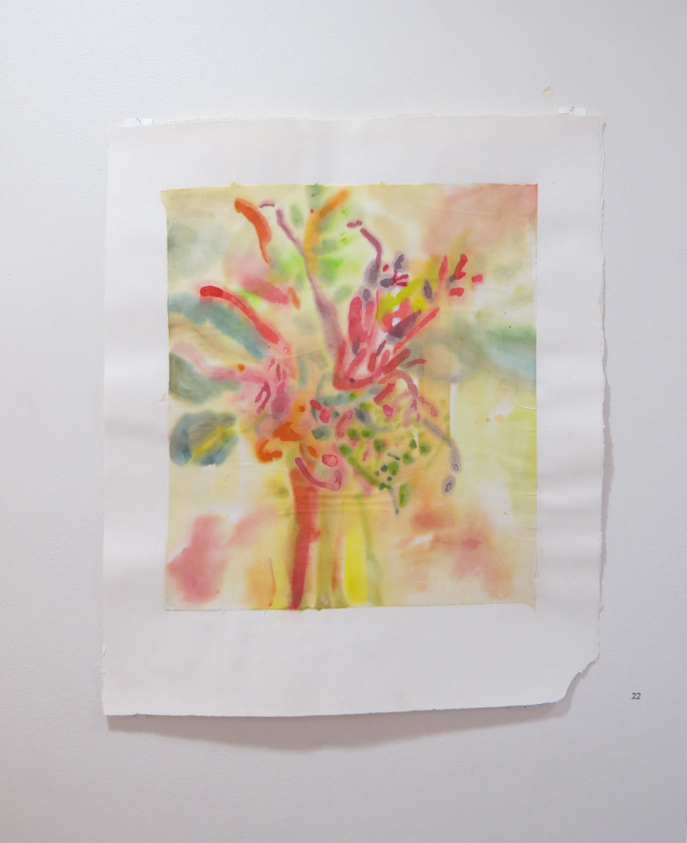 22. Jo Darvall, 'Floating Water Work 8', 2015, Watercolour on rice paper, 67 x 58cm, $1,800