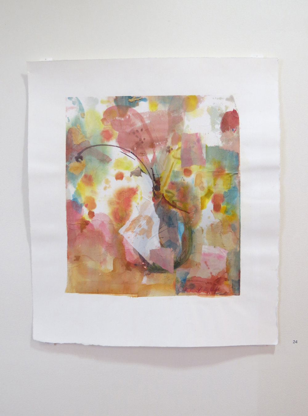 24. Jo Darvall, 'Floating Water Work 9', 2015, Watercolour on rice paper, 67 x 58cm, $1,800