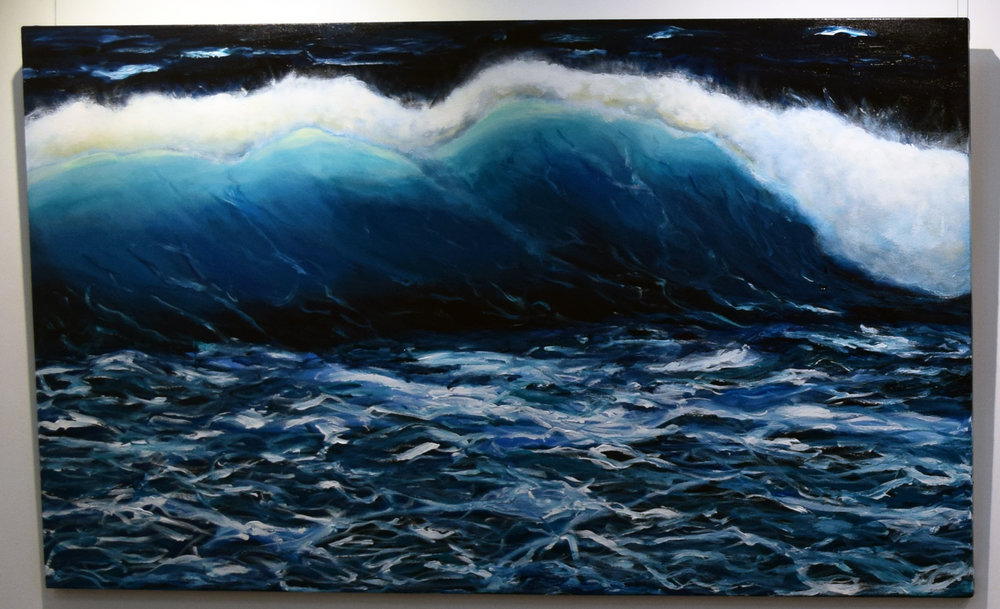 4. Jenny McGrath, Tempestuous, 2018, acrylic on canvas, 90 x 150 cm, $1,480