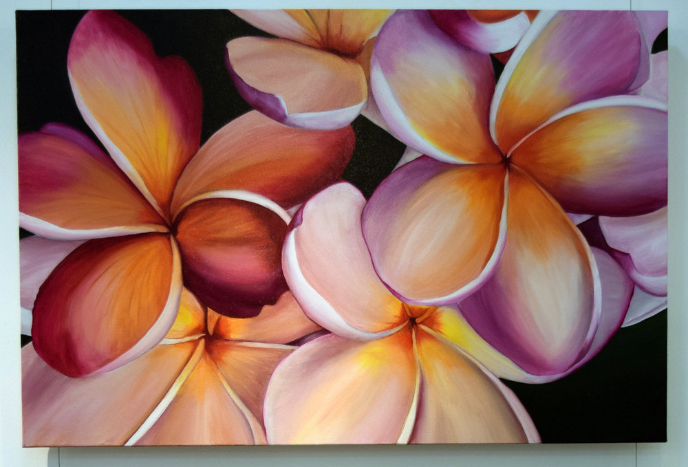 5. Hayley Krüger Gradwell, Tropical Blush, 2018, acrylic on canvas, 61x 91 cm, $850