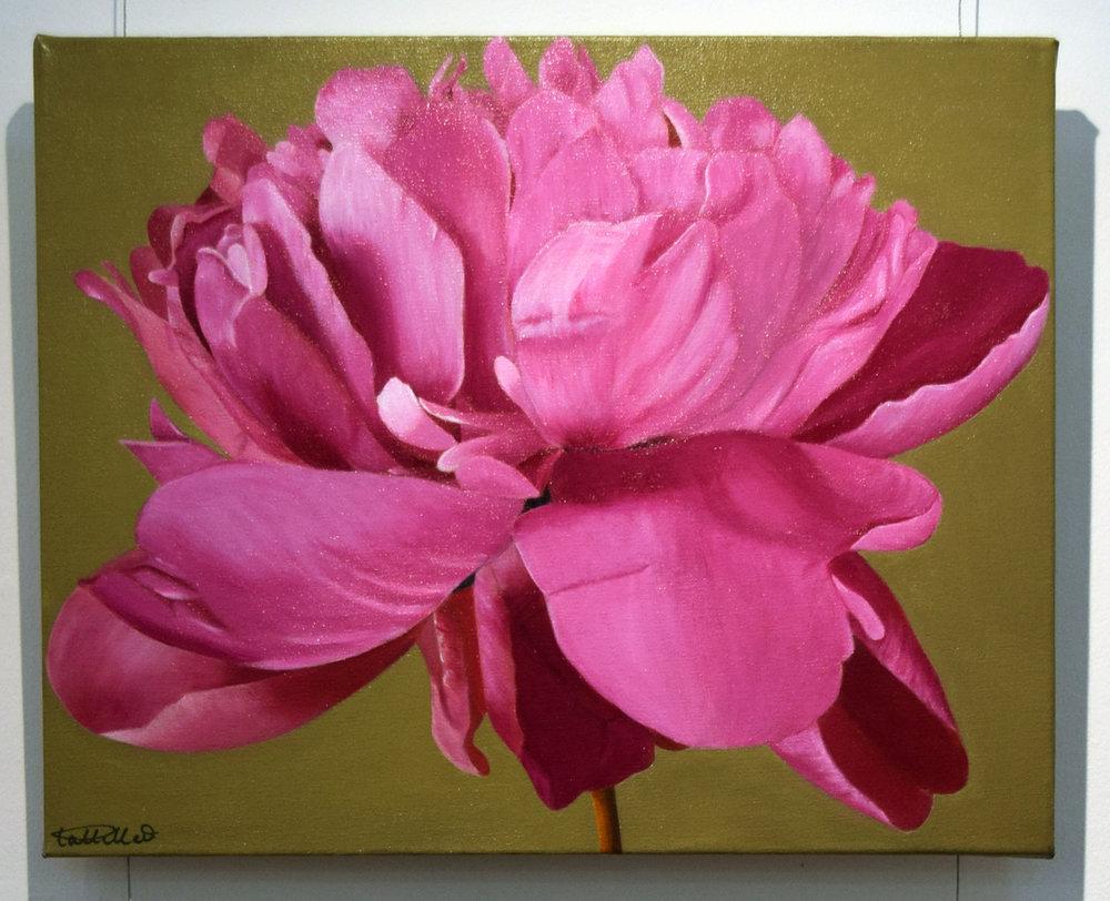 7. Pat Hillard, Peony I, 2018, acrylic on canvas, 50 x 40 cm, $480