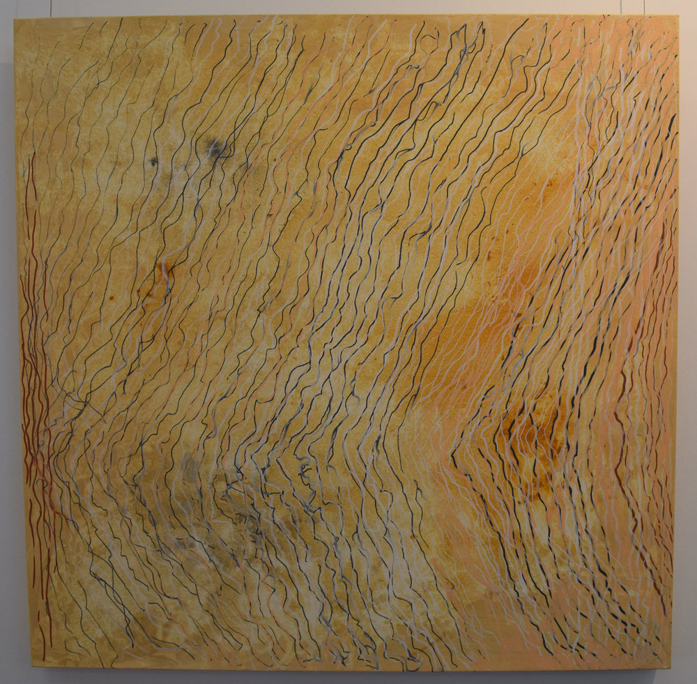 17. Line Drawing No 5, 2015, acrylic on canvas, 50 x 50 cm, $1,690