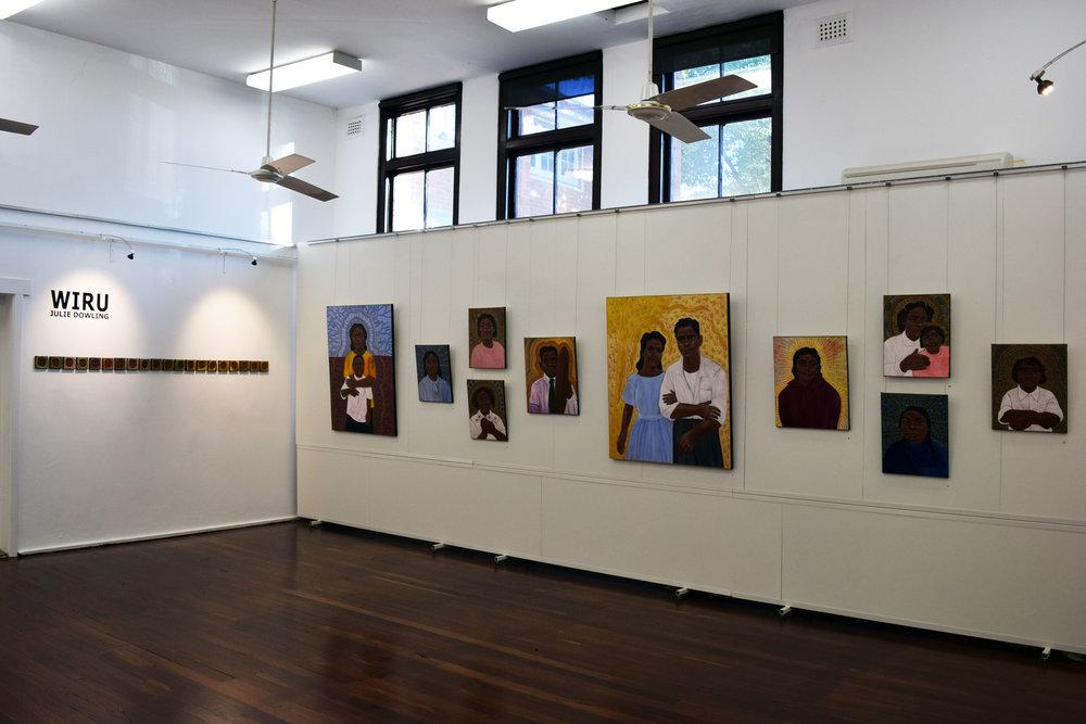 Julie Dowling, Wiru - installation view, MJAC, May 2018