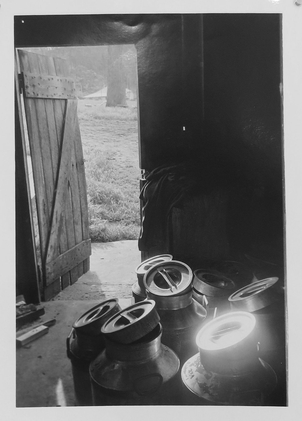 5. Richard Woldendorp, 'Milk Churns, Dairy Farm, Donnybrook WA', BW212, taken in 1963, printed in 2015