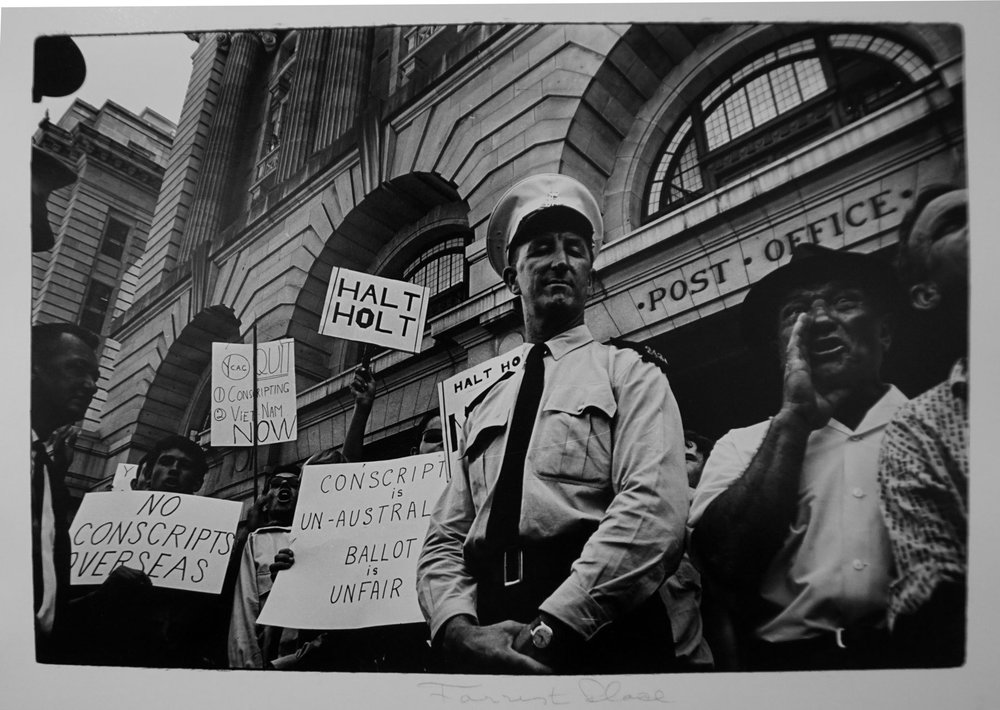 19. Richard Woldendorp, 'Protest, Forrest Place, Perth WA', BW79a, taken and printed in 1966, Vintage Print