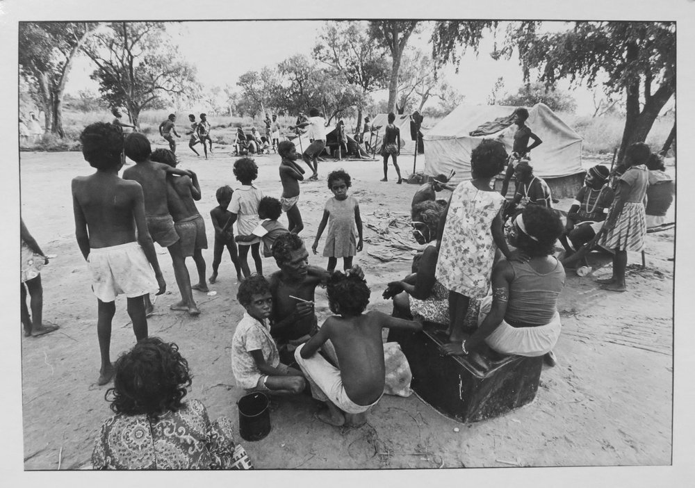 22. Richard Woldendorp, 'Preparing for Corroboree, Kununurra WA', BW146b, taken and printed in 1970, Vintage Print