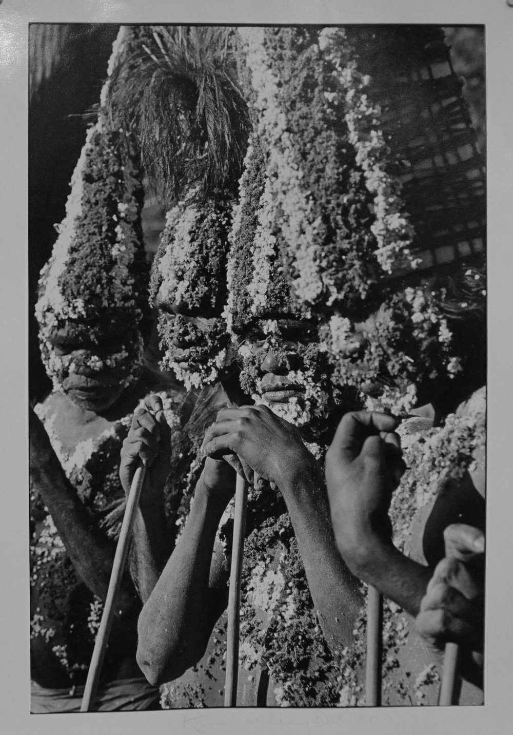 24. Richard Woldendorp, 'Halls Creek Ceremonial Dancers, Festival of Perth, Subiaco WA', BW156a, taken and printed in c.1970, Vintage Print