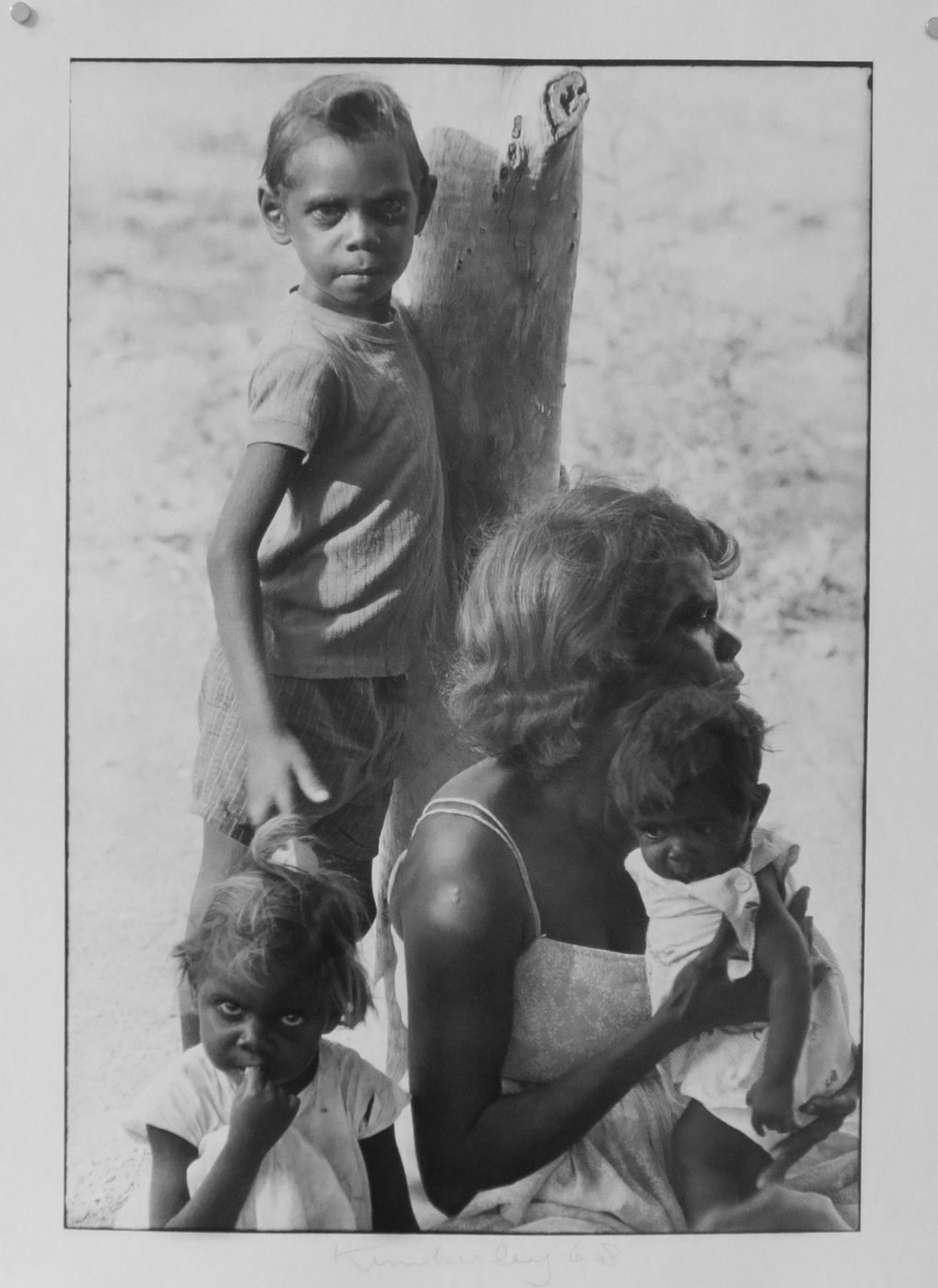 27. Richard Woldendorp, 'Family Waiting for Bush Clinic, Brooking Springs, Kimberley WA', RLW68, taken and printed in 1968, Vintage Print