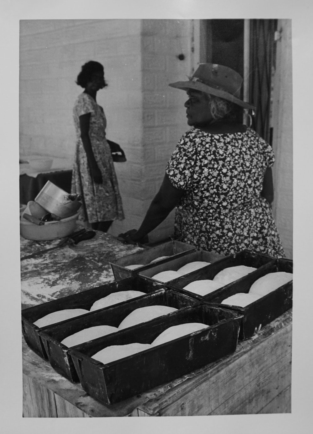 30. Richard Woldendorp, 'Baking Bread, Brooking Springs Station, Kimberley WA', BW69, taken and printed in 1965, Vintage Print