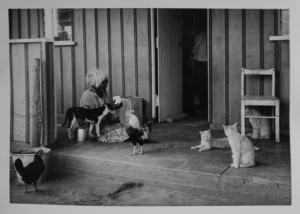 31. Richard Woldendorp, 'Aboriginal Government Housing, Carnarvon WA', BW75, taken and printed in 1965, Vintage Print