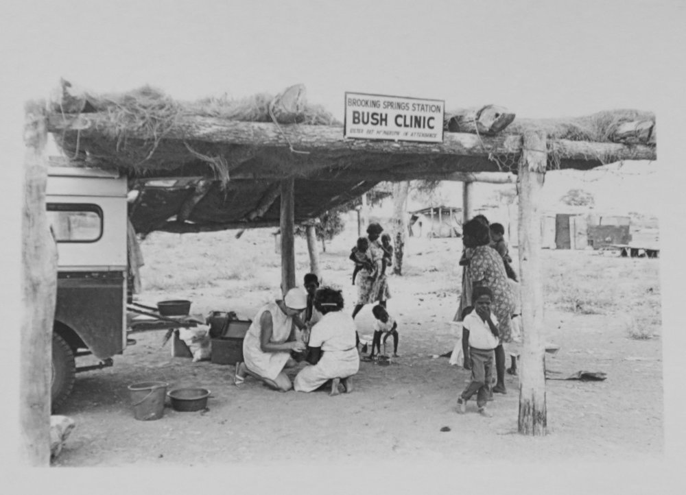 32. Richard Woldendorp, 'Bush Clinic at Brooking Springs Station, Kimberley WA', BW71, taken in 1965, printed in 2018