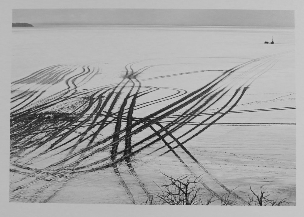 40. Richard Woldendorp, 'Exploration Tracks, Lake Lefroy, Kambalda WA', BW81, taken in 1977, printed in 2018