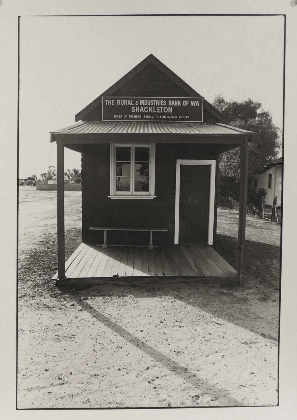 43. Richard Woldendorp, 'Rural & Industries Bank, Shackleton WA', BW305, taken and printed in c.1963, Vintage Print