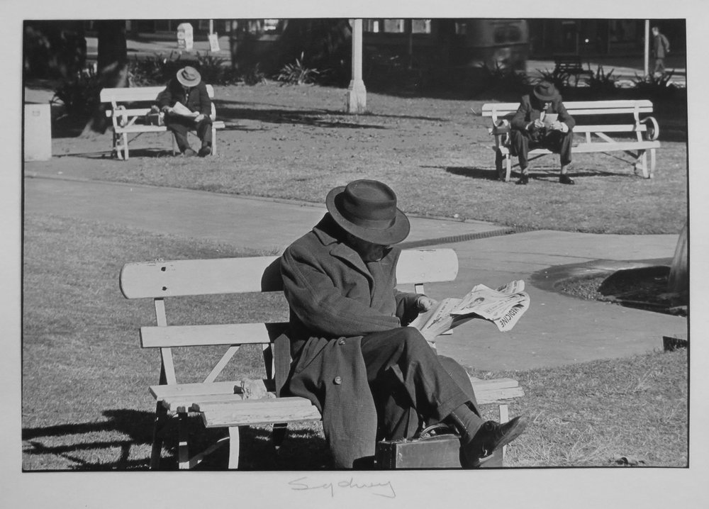 45. Richard Woldendorp, 'Hyde Park, Sydney NSW', BW32, taken and printed in 1961, Vintage Print