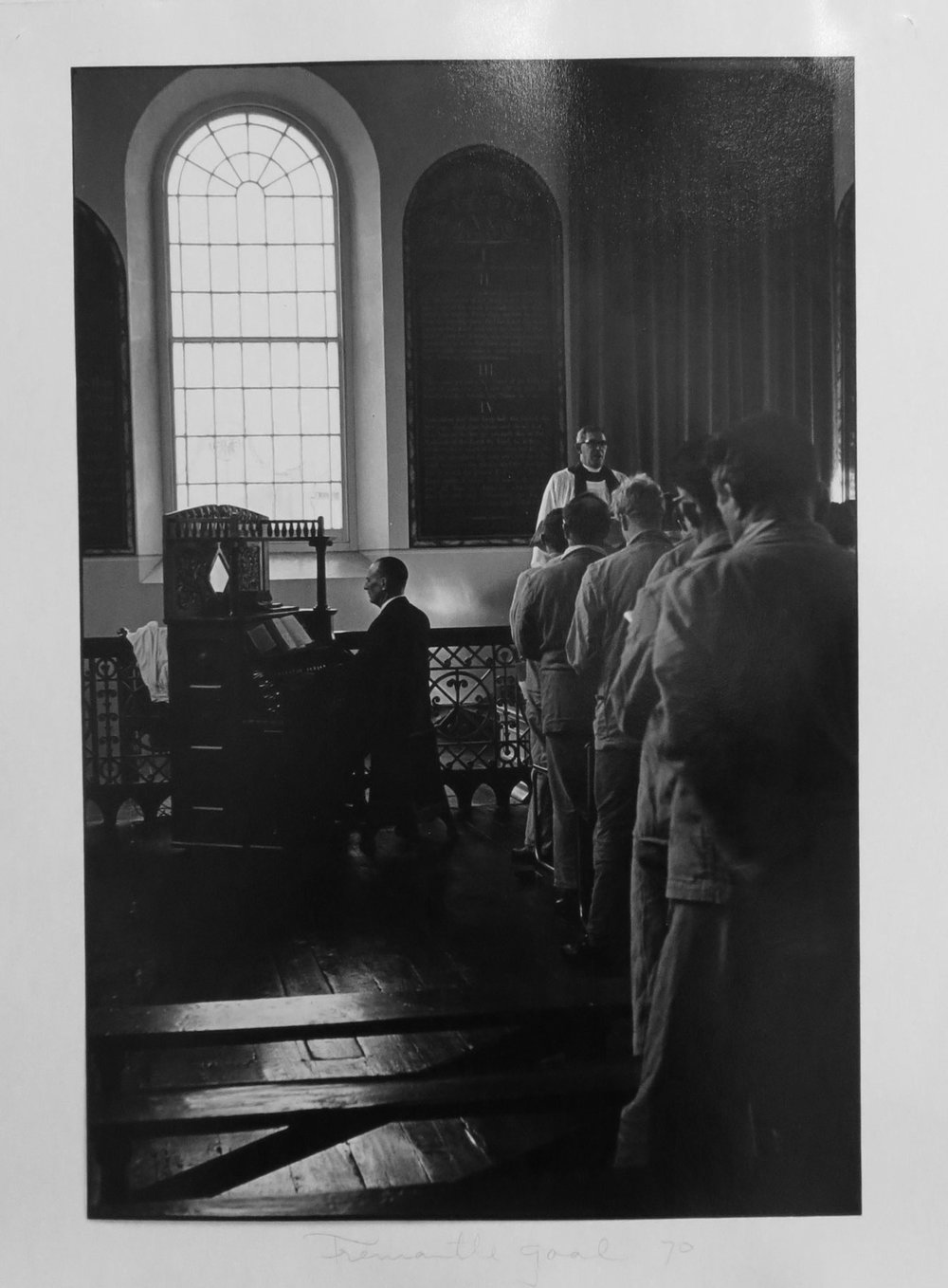 48. Richard Woldendorp, 'Chapel, Fremantle Prison, Fremantle WA', BW58b, taken and printed in c.1970, Vintage Print