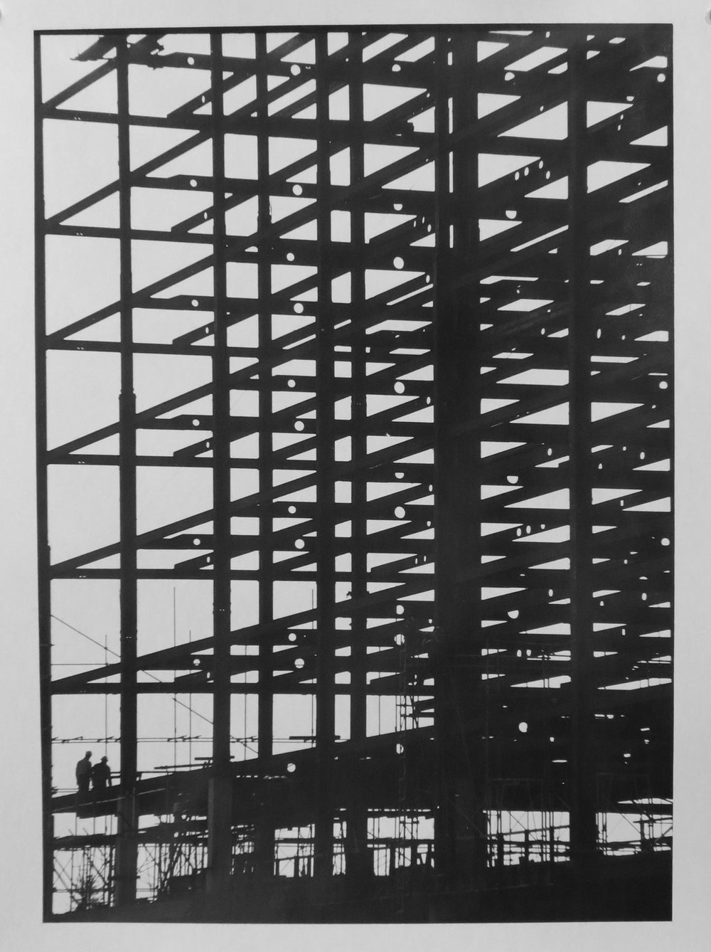 49. Richard Woldendorp, 'Construction of Dumas House, Kings Park Road, West Perth WA', BW228, taken and printed in c.1960, Vintage Print