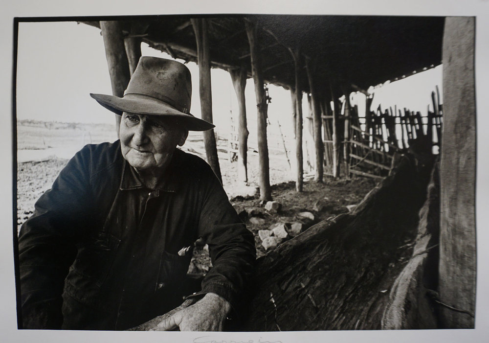 68. Richard Woldendorp, 'Bonnie Walton, last of the horse-drawn farmers, Corrigin WA', BW45a, taken and printed in 1963, Vintage Print