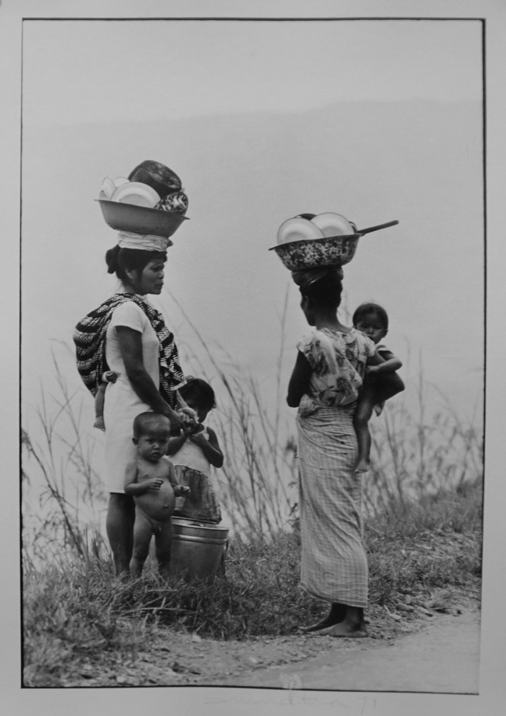 71. Richard Woldendorp, 'Women exchanging news, Lake Toba, Sumatra, Indonesia', BW335, taken and printed in 1971, Vintage Print
