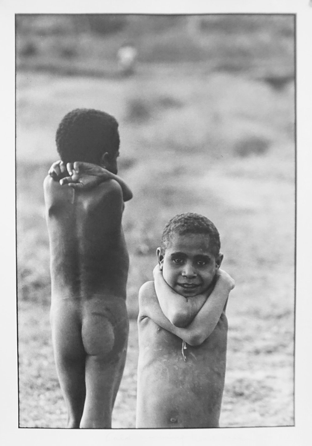 74. Richard Woldendorp, 'Cold Morning, Baliem Valley, West Irian Jaya, Indonesia', BW248, taken and printed in 1971, Vintage Print
